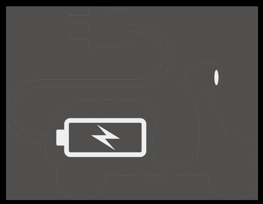 Energielösungen: Abbildung eines E-Rollers
