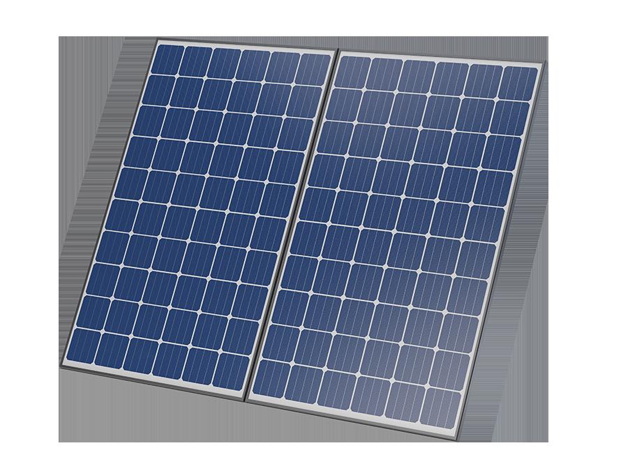 Energielösungen: Abbildung einer Photovoltaikanlage