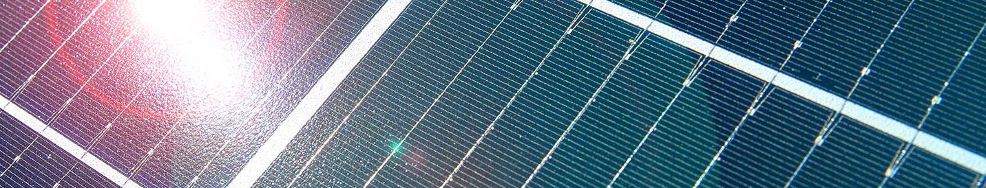 Energielösungen: Abbildung eines Solarmoduls